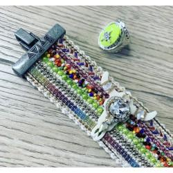 Bracelet BUFFLE VERT / turquoise