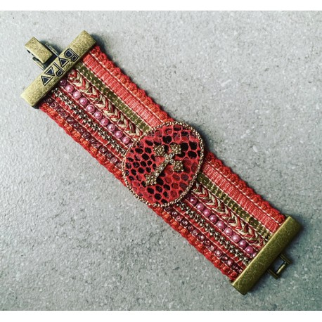 Bracelet CROIX rouge