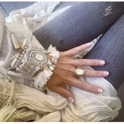 Bracelet perles & croix 4