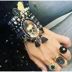 Bracelet tete noir